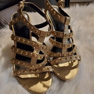 Coach studded strappy heels